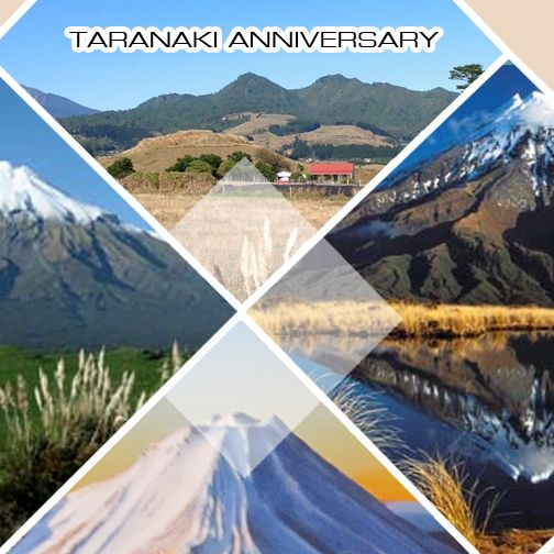 It's Taranaki Day! Happy Anniversary to our friends in Taranaki!