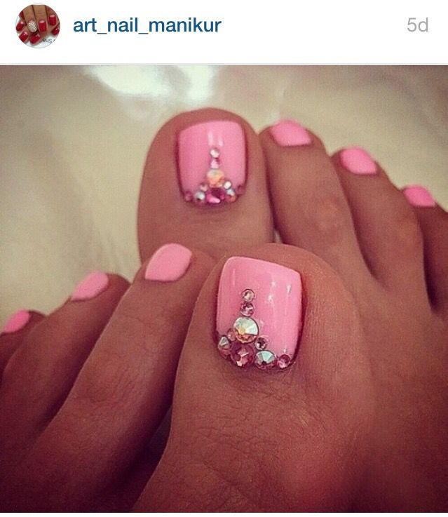 Cute pedicure design More. Pink ToesPink Toe NailsBlush ... - 25+ Unique Pink Toes Ideas On Pinterest Toe Nail Designs