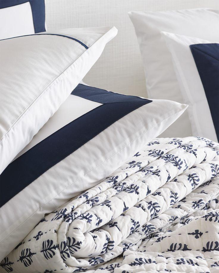 Cambria Quilt White Linen Bedding Brown Bed Linen Grey Linen Bedding