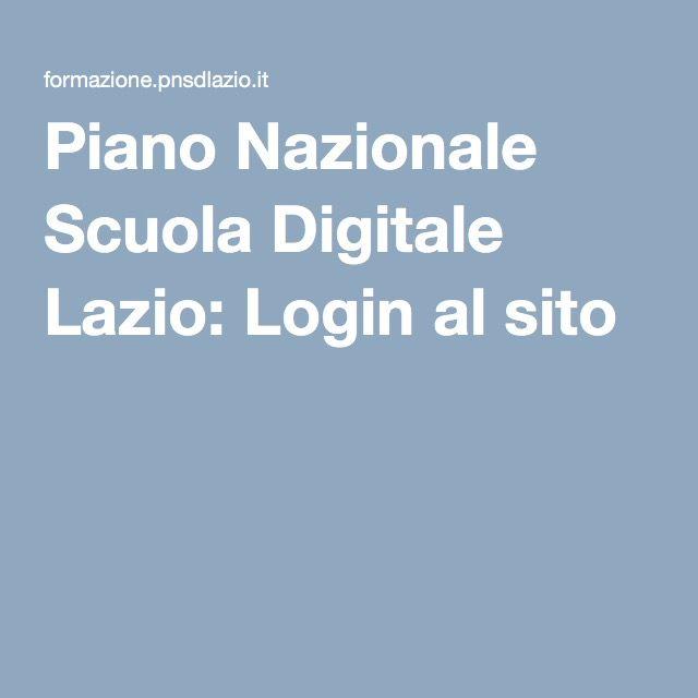 Piano Nazionale Scuola Digitale Lazio: Login al sito