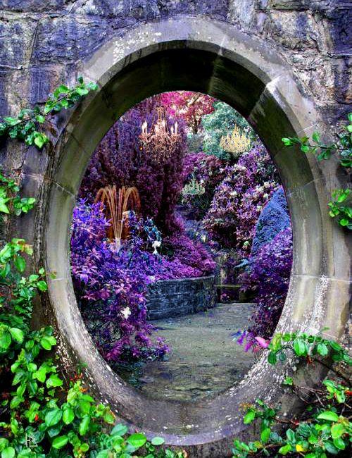 splendiferoushoney: fairy portal - Beautiful colorful fantasy gardens takes you to another world