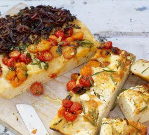 Focaccia de tres sabores de Jamie Oliver