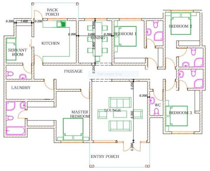 4 Bedroom Design 1256 B Bungalow Floor Plans Bedroom House Plans Four Bedroom House Plans House designs indian style 4 bedroom