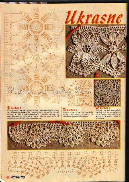 Häkeln Spitze Borte Häkelborte - crochet edging border