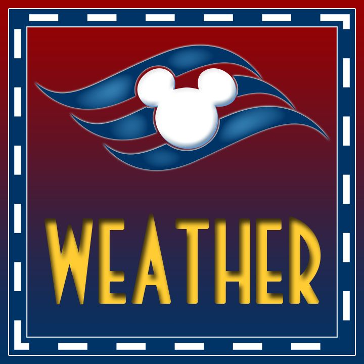 14-day Extended Weather Forecast The fourteen day forecast for the each of the Disney Cruise ship based on their upcomingscheduled ports of call.