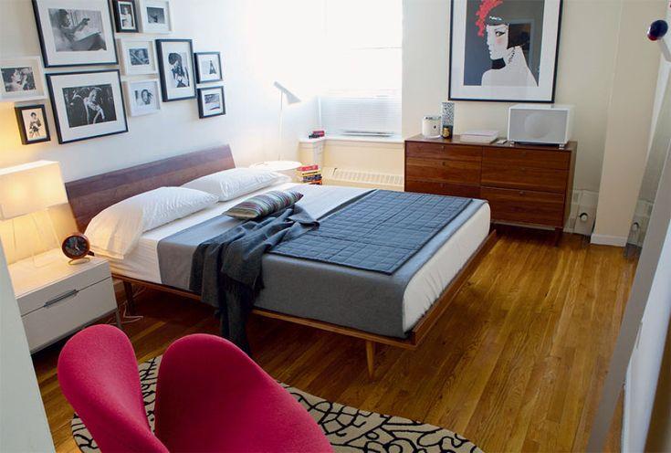 cama e cômoda com pé palito