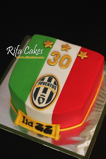 Italian Flag Juventus Cake Rifa Cakes Pinterest