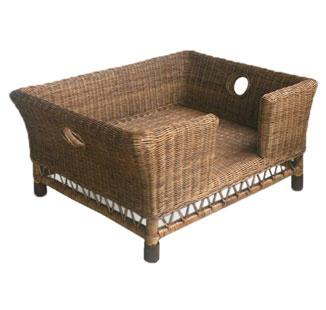 Dog bed, rattan
