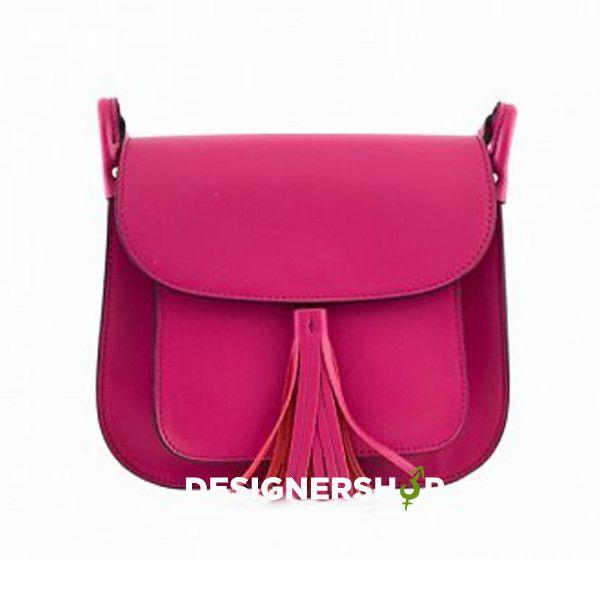 #leather handbag made in Italy #fuchsia leather lovely handbag #pink handbag