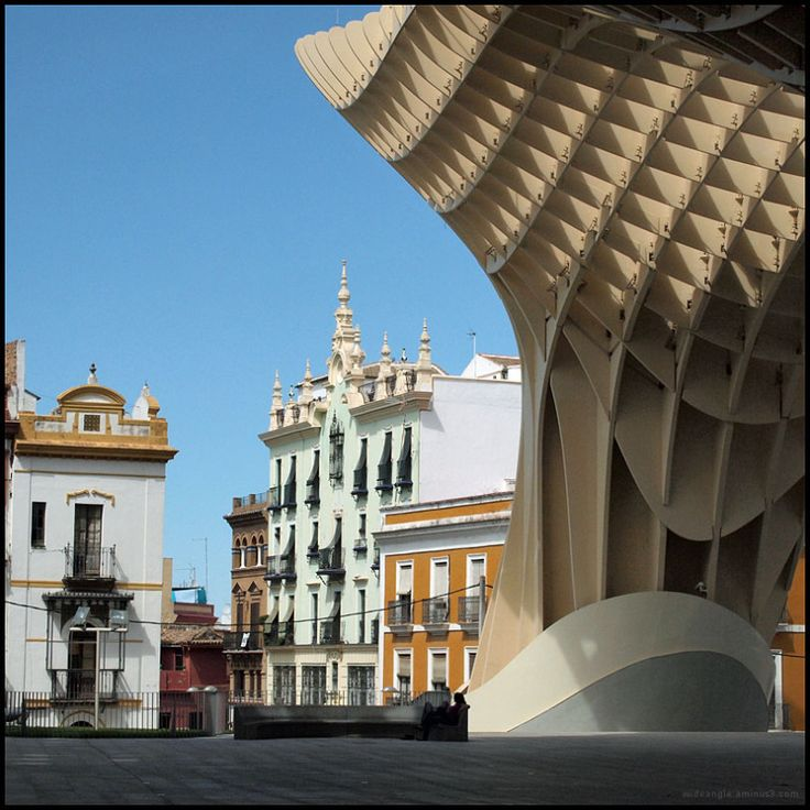 Old new Seville Spain Architecture. Photographed by Richard Irwin.