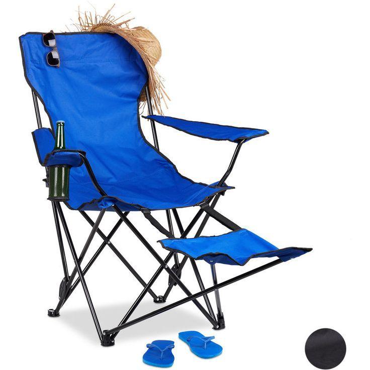 Chaise Longue De Jardin Fauteuil De Jardin Bain De Soleil Transat Chaise De Camping Pliante 63 Cm X 87 5 Cm X 111 Cm Bleu In 2020 Camping Chairs Folding Camping Chairs Outdoor Chairs
