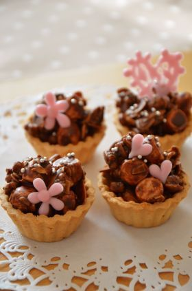 「【バレンタイン】簡単!ロックチョコタルト」ちひろ   お菓子・パンのレシピや作り方【corecle*コレクル】
