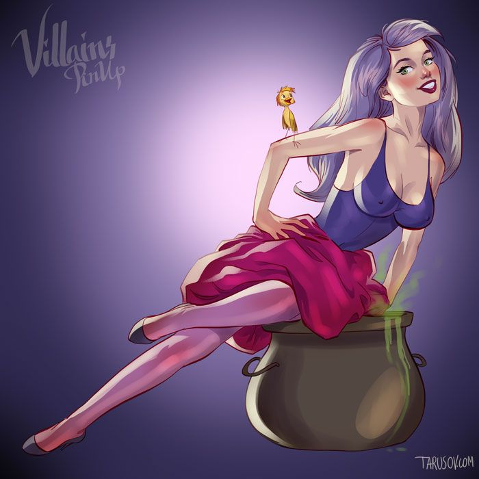 Disney Villains Pinup Madame Mim, The Sword in the Stone