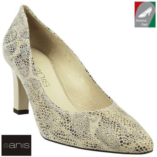 Anis női bőr cipő 4478 bézs kombi/luska