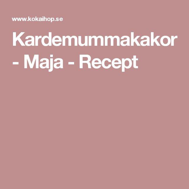 Kardemummakakor - Maja - Recept