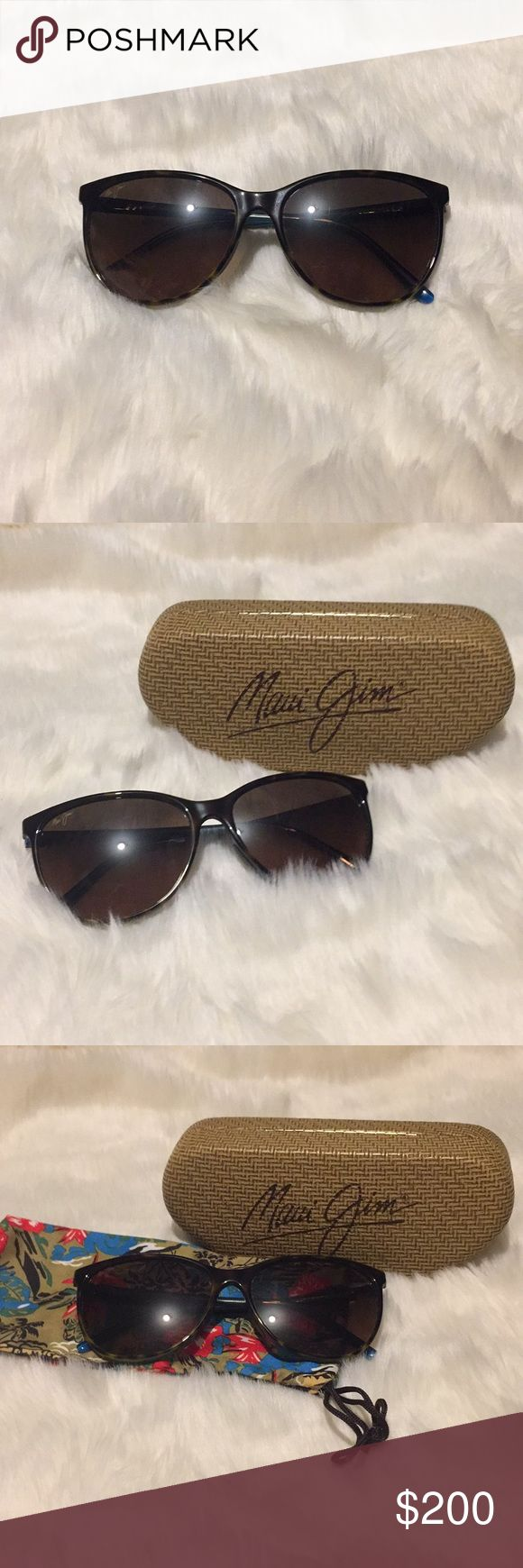 Maui Jim (Ocean) Sunglasses No scratches or damages. Comes with original case and cleaning pouch. Maui Jim Accessories Sunglasses