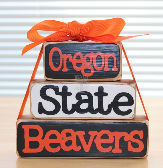 Oregon State Beavers Stackable Wood Blocks Set by TheBenchT, $10.00