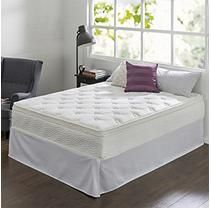 """Night Therapy 12"""" Comfort Coil Spring California King Mattress and Smartbase Set"""