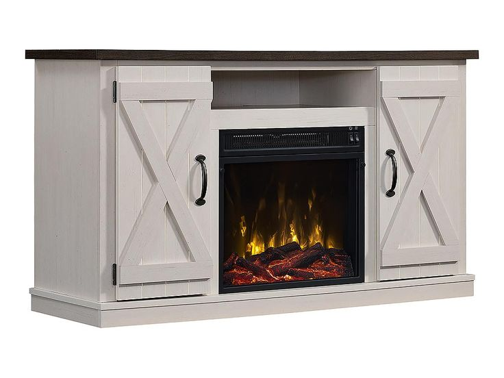Killian Electric Fireplace Media Console In Two Tone 18mm6127
