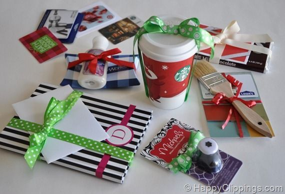 Creative Wrapping Ideas for Gift Cards (these and more)
