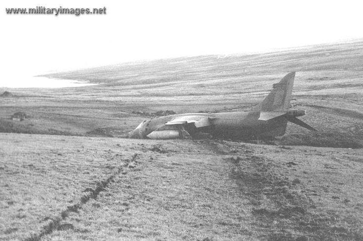 Harrier derrivado, segun las fuentes británicas se perdieron 11 Harriers