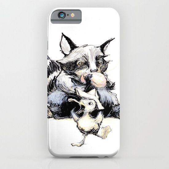 Cellphone case, drawing  graphite  ink/pen  comic   illustration  figurative  racoon  duck   soap  germs  dance  friends   humor  clean