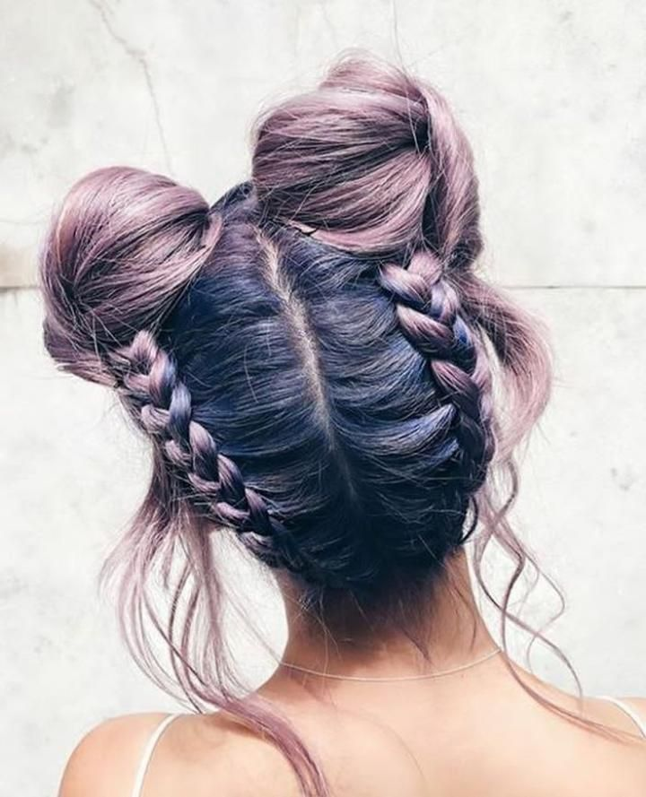 Best Hairstyles For Short Height Girls 30 Cute Hairstyles Hair Styles Purple Hair Girl With Purple Hair