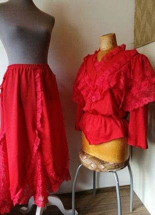 Kaufe meinen Artikel bei #Kleiderkreisel http://www.kleiderkreisel.de/damenmode/kostume-and-besonderes/158981819-braut-in-rot-saloon-girl-2-teiliges-kostum-vintage-curvy-44
