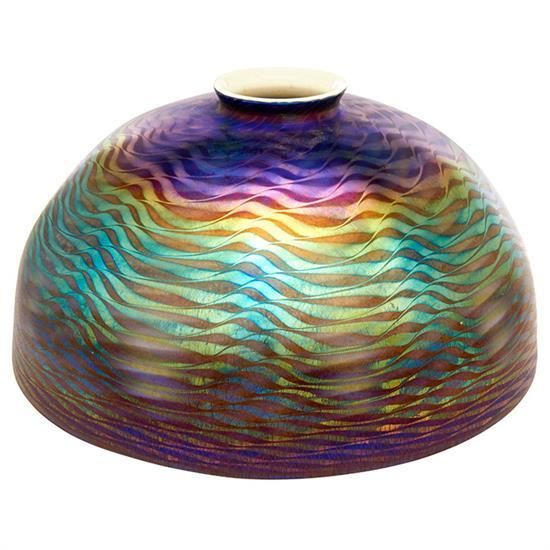 Buy Online View Images And See Past Prices For Louis Comfort Tiffany Damascene Lamp Shade 9