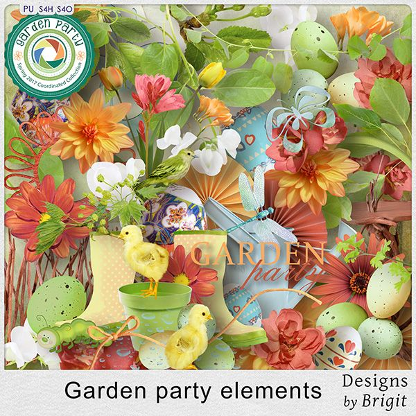 Digital Art :: Element Packs :: Garden party elements by Designs by Brigit