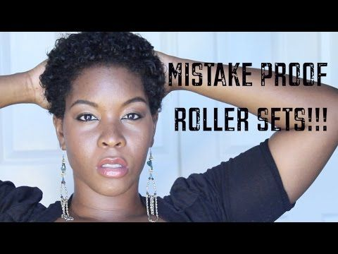 Heat Free Curls: Perm Rod Roller Set on Short Natural Type 4A 4B 4C Hair - YouTube