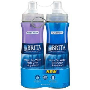Brita Water Bottles, 2-Pack replaces the use of regular bottled water that is thrown away #WalmartGreen