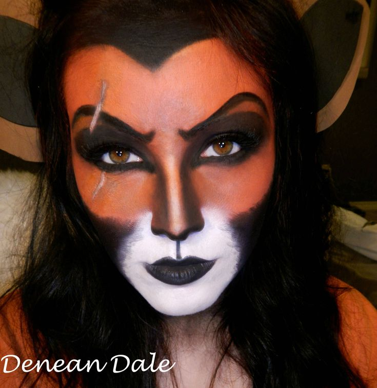 For my Disney lovers, Scar makeup I did! Tutorial in the comments! - Imgur