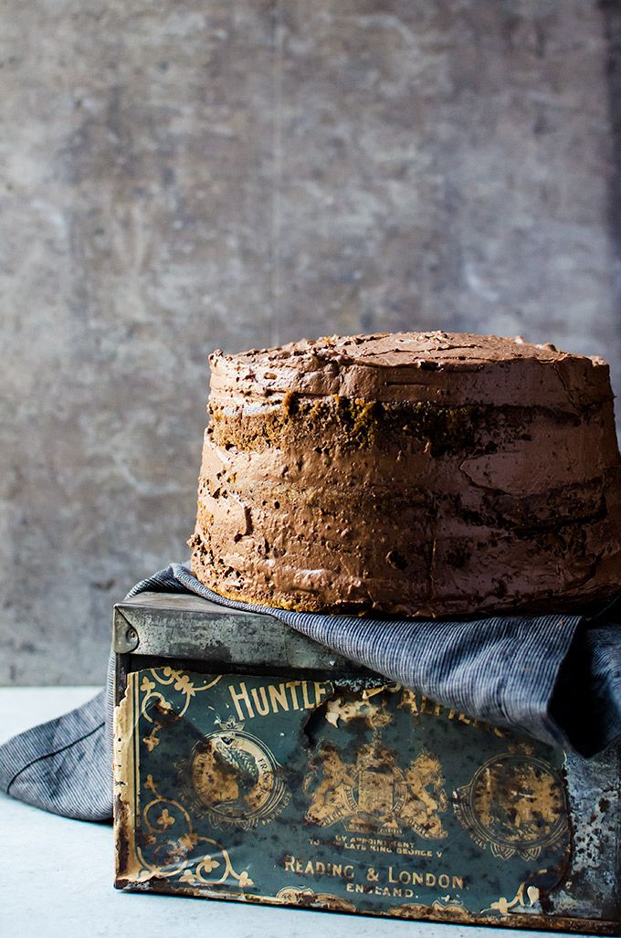 For coffee lover's only. A coffee flavored cake that tastes like your favorite cup of coffee. It is layered with a light whipped mocha ganache.