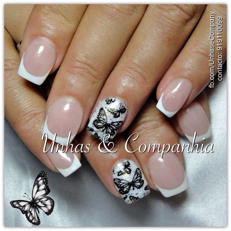 White effect butterfly