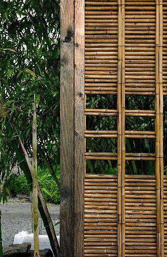 bamboo screen/fence/door