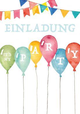 die 25+ besten ballon einladung ideen auf pinterest | luftballons, Einladungen