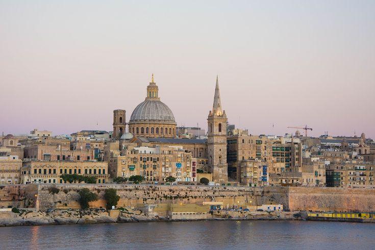 View of the capital of Malta Valletta.
