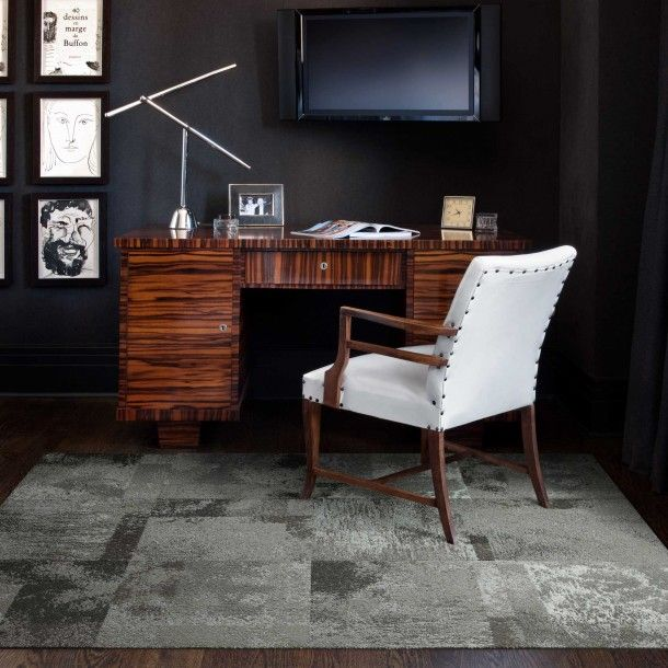 Rugs   Modern, Modular Carpet Tiles And Area Rugs For Do It Yourself Ease    FLOR Modular Tiles   Flor Tiles, Black And White, Chair, Desk