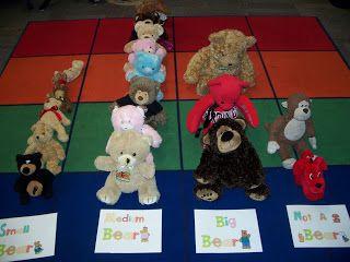 Teddy Bear and PJ's Day...Sort teddy bears by size