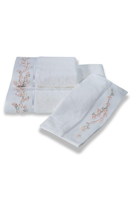 Bambusowe ręczniki RUYA 32x50 cm, 50x100cm, 85x150 cm w kolorze białe. Ręczniki te mają 4x większą chłonność niż bawełna, są bardzo miękkie, delikatne i szybko schną.