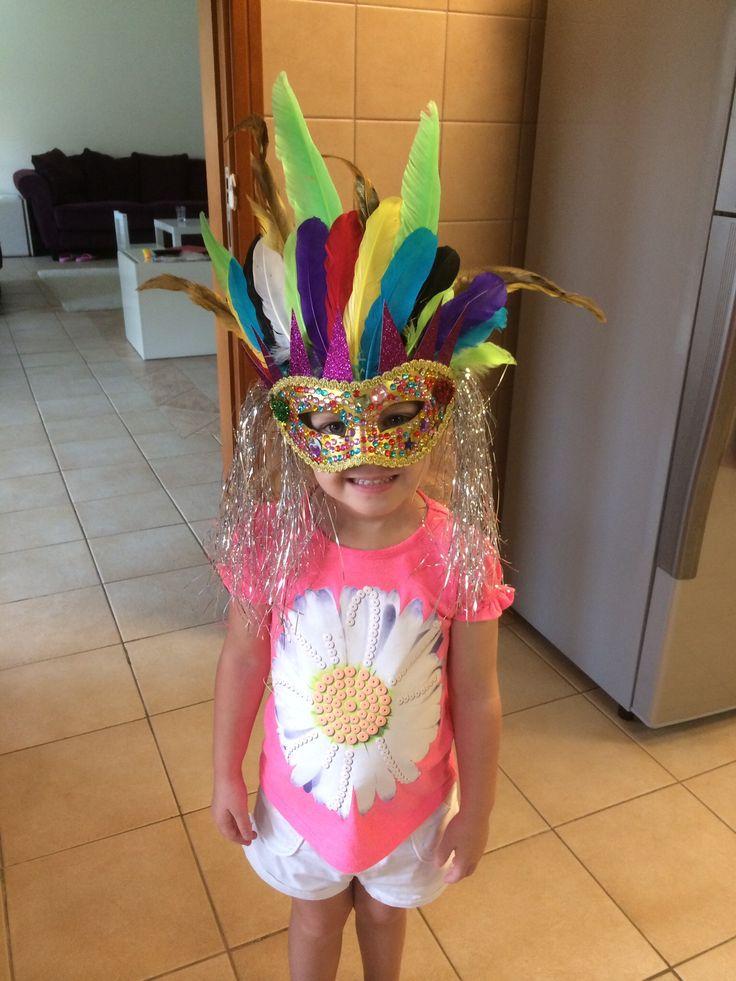 Child's Brazilian carnival mask