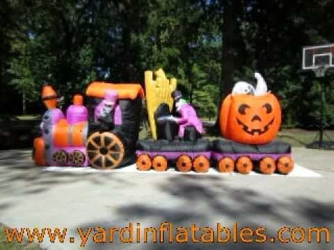 gemmy halloween train inflatable