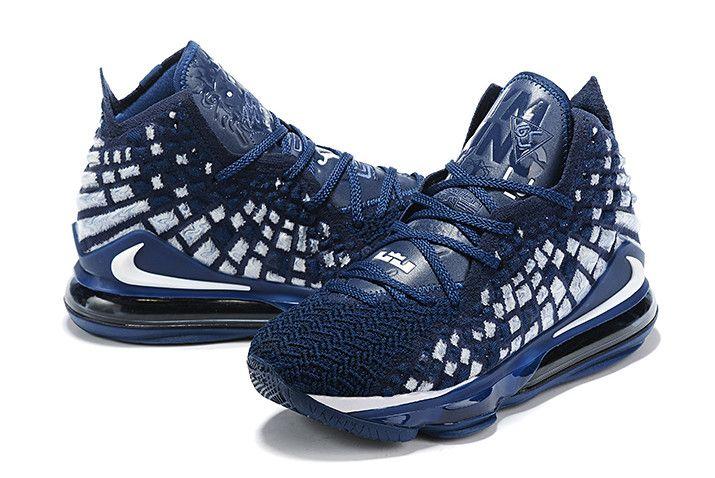 Nike LeBron 17 XVII EP Navy Blue/White