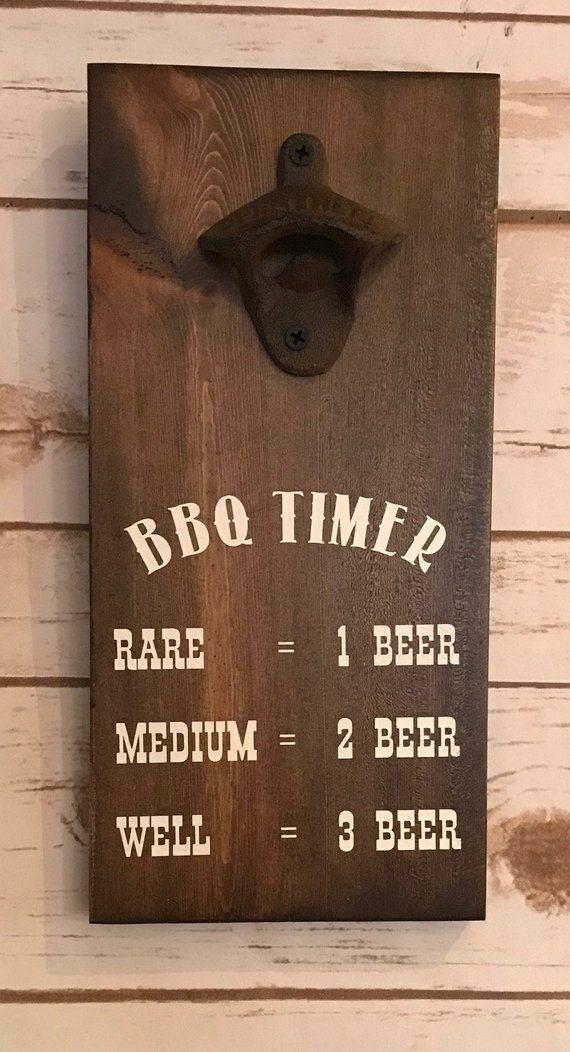 Wall Mounted Bottle Opener, Rustic Beer Opener, Craft Beer Lover, Wooden Beer Op…