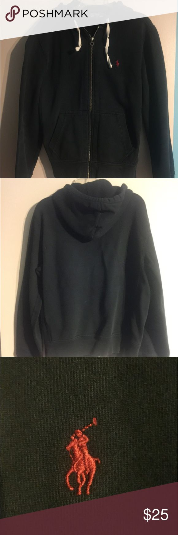 Polo jacket. Zip up polo jacket with hood.  Great condition. Polo by Ralph Lauren Shirts Sweatshirts & Hoodies