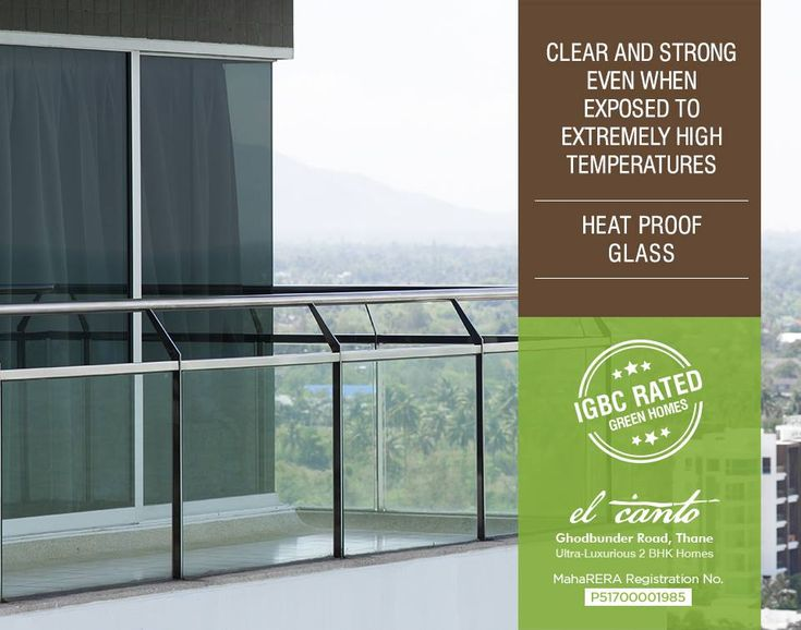 #IGBCRatedGreenHomes  We provide Heat Proof Glass for homes  El Canto - Ghodbunder Road, Thane (W) Ultra-Luxurious 2 BHK Music Inspired Homes  #Maharera Registration Number: P51700001985  http://dedhiagroup.com/residential-dedhia-elcanto.aspx  #dedhia #dedhiagroup #realestate #luxury #luxurioushouse #realtor #propertymanagement #bestpropertyrates #homesellers #bestexperience #homebuyers #dreamhome #thane #ghodbunder