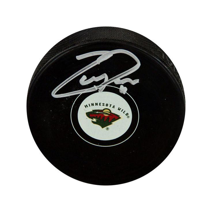 Steiner Sports Zach Parise Minnesota Wild Autographed Hockey Puck, Black