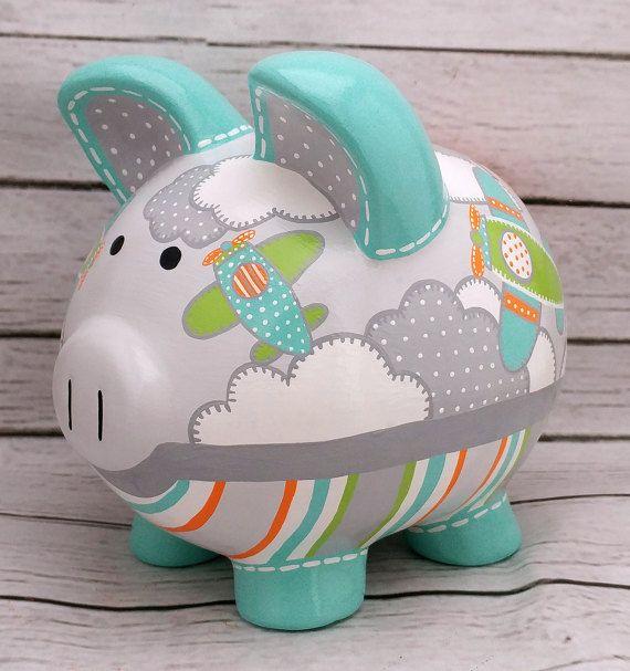 Personalized Piggy Bank Pinterest Te Hakkında 1000 Den