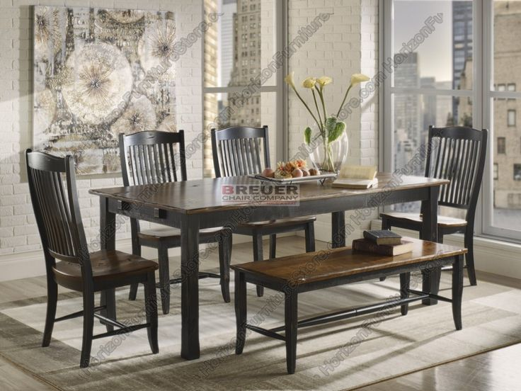 Superb Canadel Champlain   Custom Dining Customizable Rectangular Table Set With  Bench   Becker Furniture World   Dining 5 Piece Set Twin Cities, M. Images